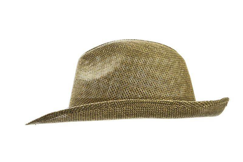 25f3b89a5ef Vintage straw hat for man isolated on white background