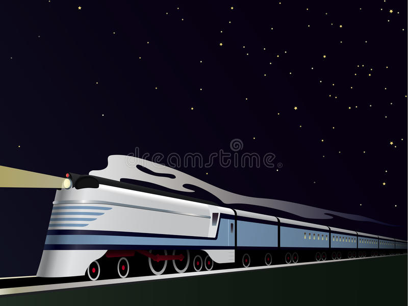 Vintage Streamlined Train Vector Illustration vector illustration