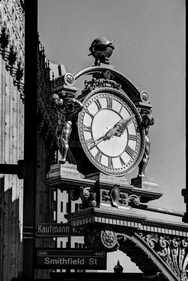 Vintage Street Clock stock photo