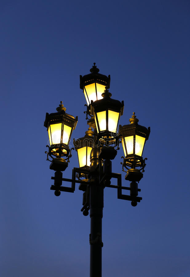 Vintage street light stock photos