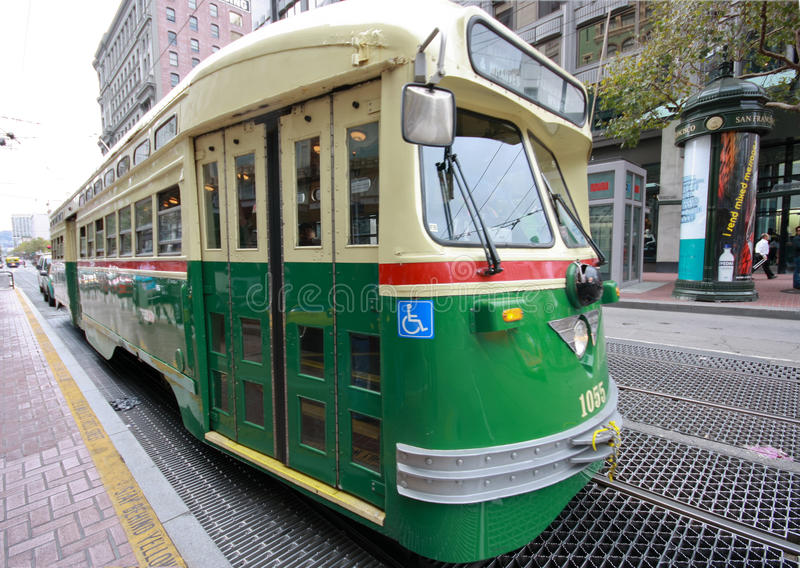 Download Vintage Streetcar In Service On The F Market Line Editorial Photography - Image: 21917992