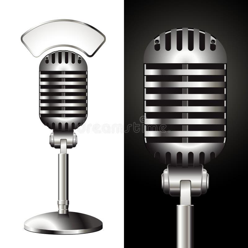 Vintage studio mic stock vector. Illustration of hear ...