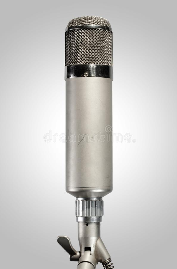 Vintage Studio Microphone stock photography