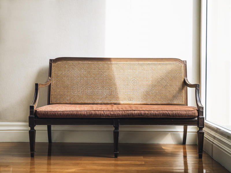 Vintage style bench Home Furniture decoration stock photography