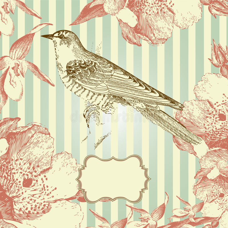 Free Vintage Style Card Royalty Free Stock Photography - 22444827