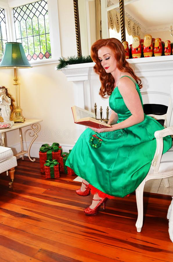Vintage style Christmas in New Zealand stock image