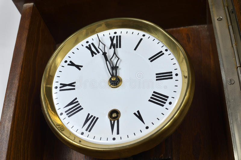 Vintage Style Clock royalty free stock photo