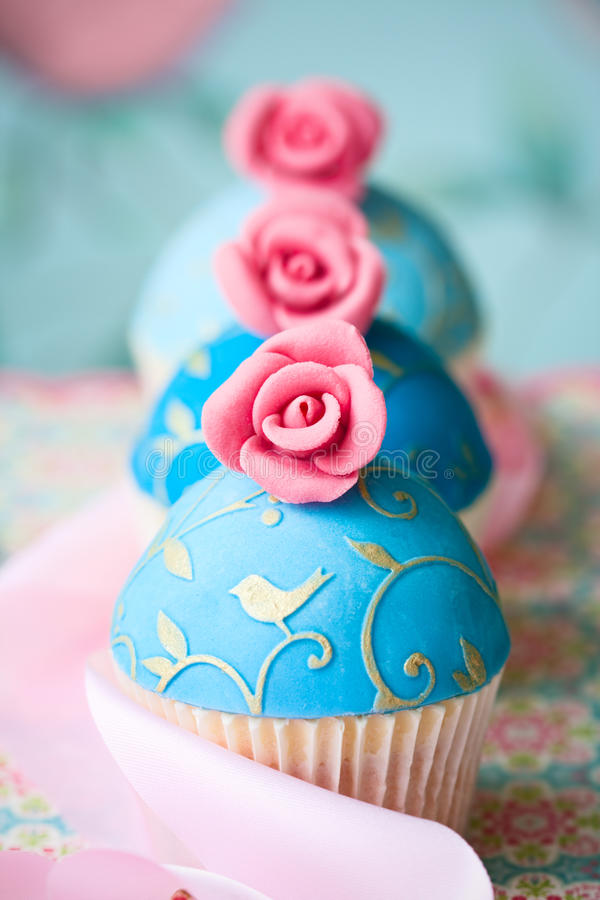 Download Vintage style cupcakes stock image. Image of flowers - 25966357