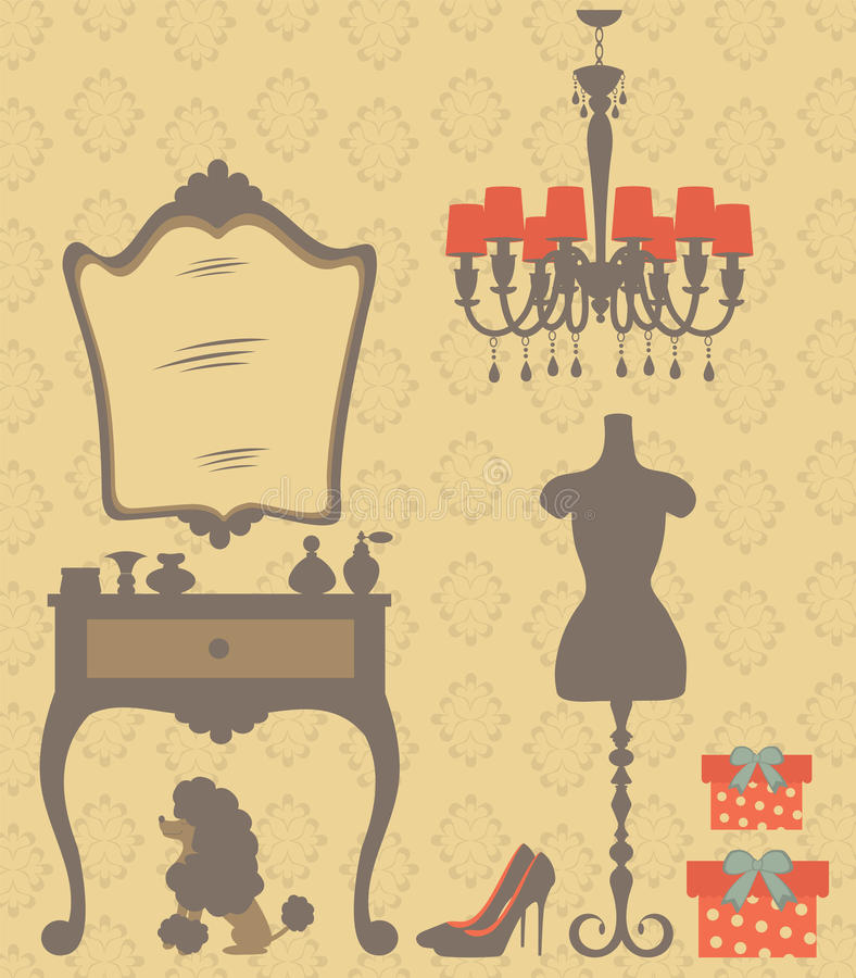 Download Vintage Style Dressing Room Stock Vector - Image: 26697642