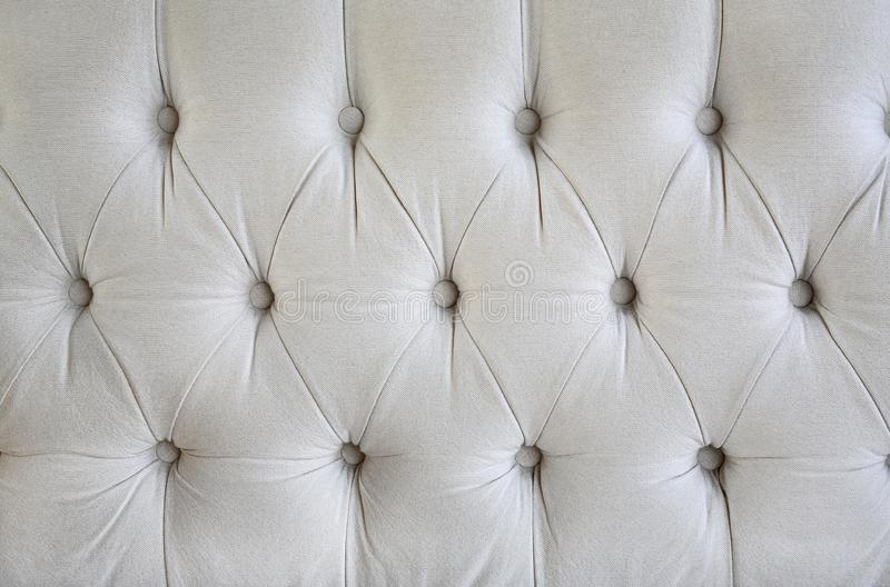 Vintage style fabric with button texture of sofa royalty free stock photos