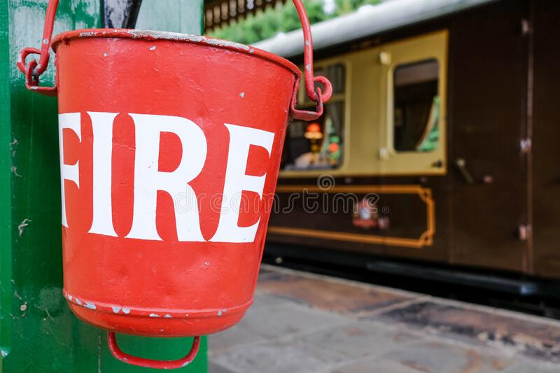 Railway Fire Buckets Vintage Style Metal Sign
