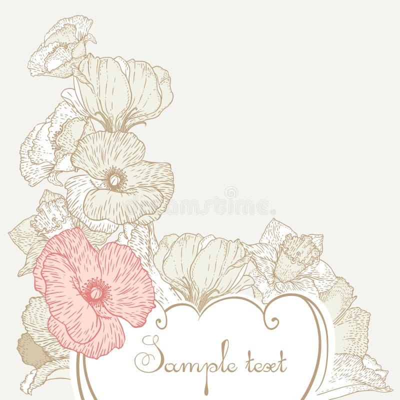 Vintage style floral background vector illustration