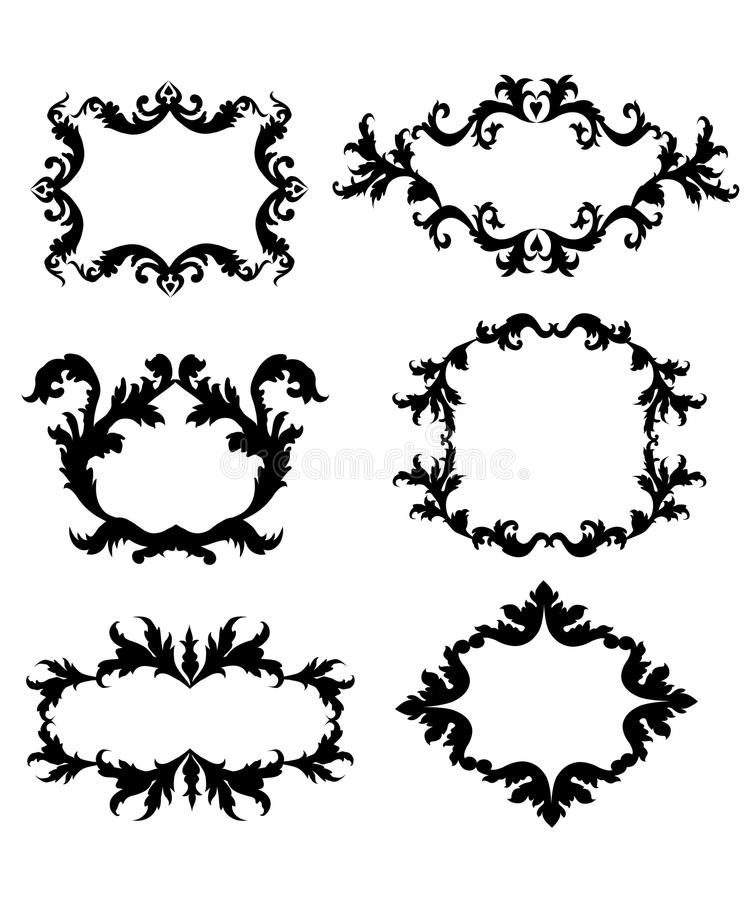 Vintage Style Floral Frame -Vector Stock Vector - Illustration of ...