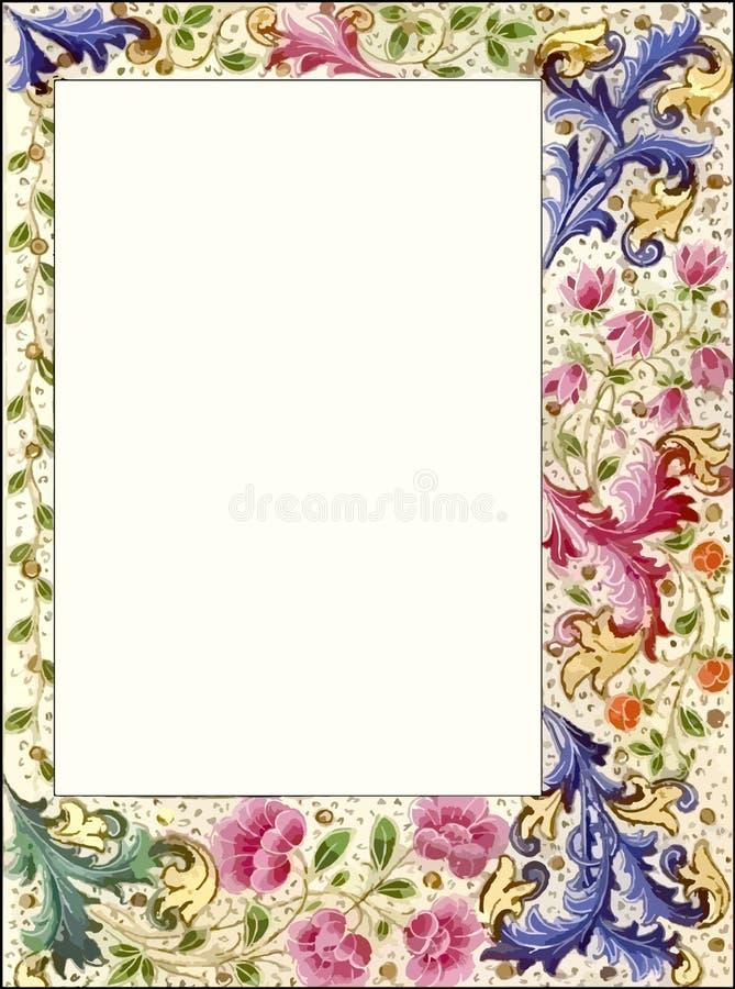 Vintage Style Floral Scrapbook Frame Border Stock