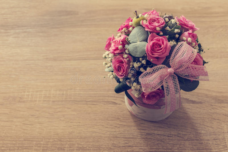 Vintage style flower bouquet royalty free stock images