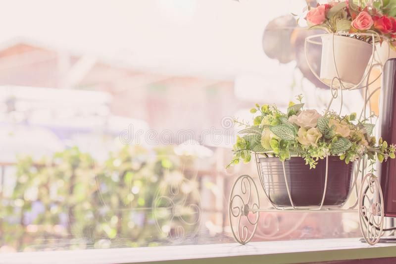 vintage style flowers made with color pastel in soft color and b royalty free stock images