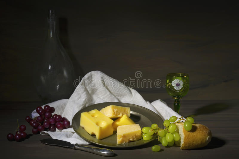 Vintage style food still life royalty free stock photography