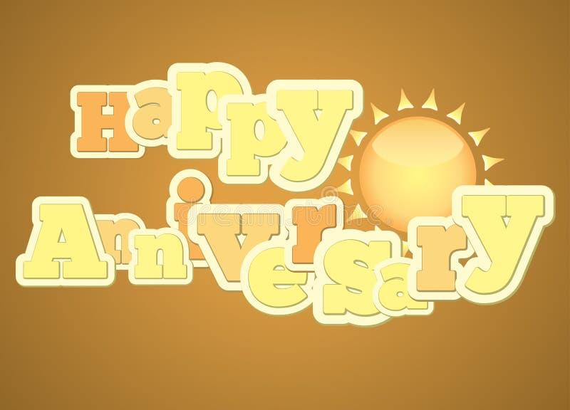 Vintage style happy anniversary typography stock vector