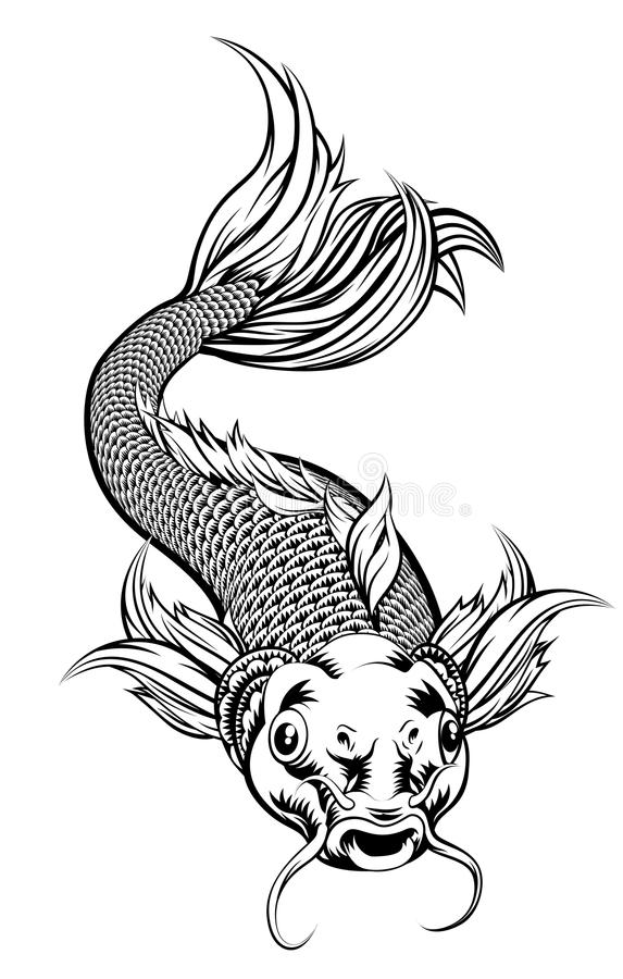 Free Vintage Style Koi Carp Fish Royalty Free Stock Photo - 104234405