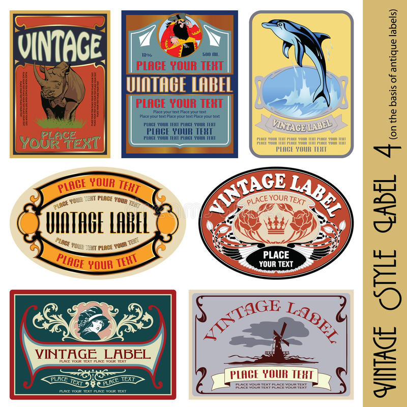 Download Vintage Style Label Stock Photos - Image: 14612953