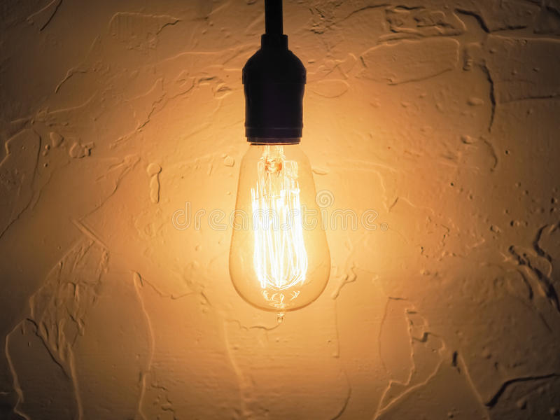 Vintage style Light Blub royalty free stock photography
