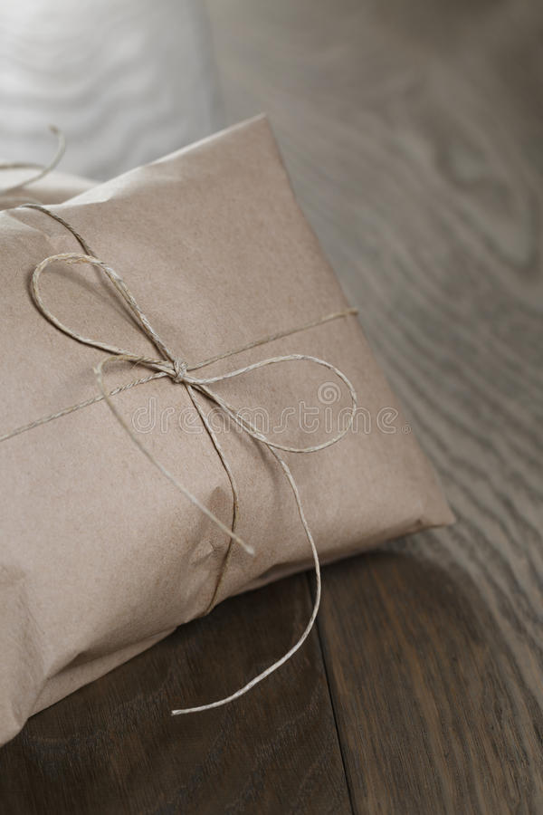 Download Vintage Style Parcel Wrapped With Rope Stock Photo - Image: 43069218