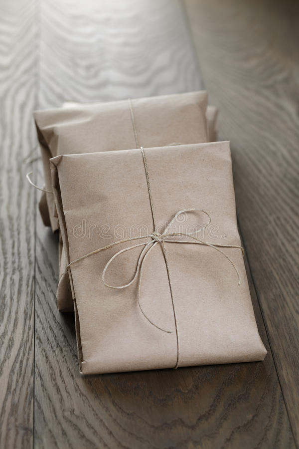 Download Vintage Style Parcels Wrapped With Rope Stock Image - Image: 43069225