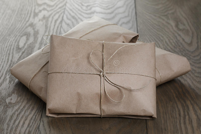 Download Vintage Style Parcels Wrapped With Rope Stock Photo - Image: 43069338