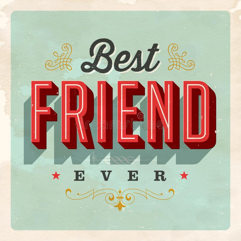 Free Vintage Style Postcard - Best Friend Ever. Royalty Free Stock Photography - 105939397