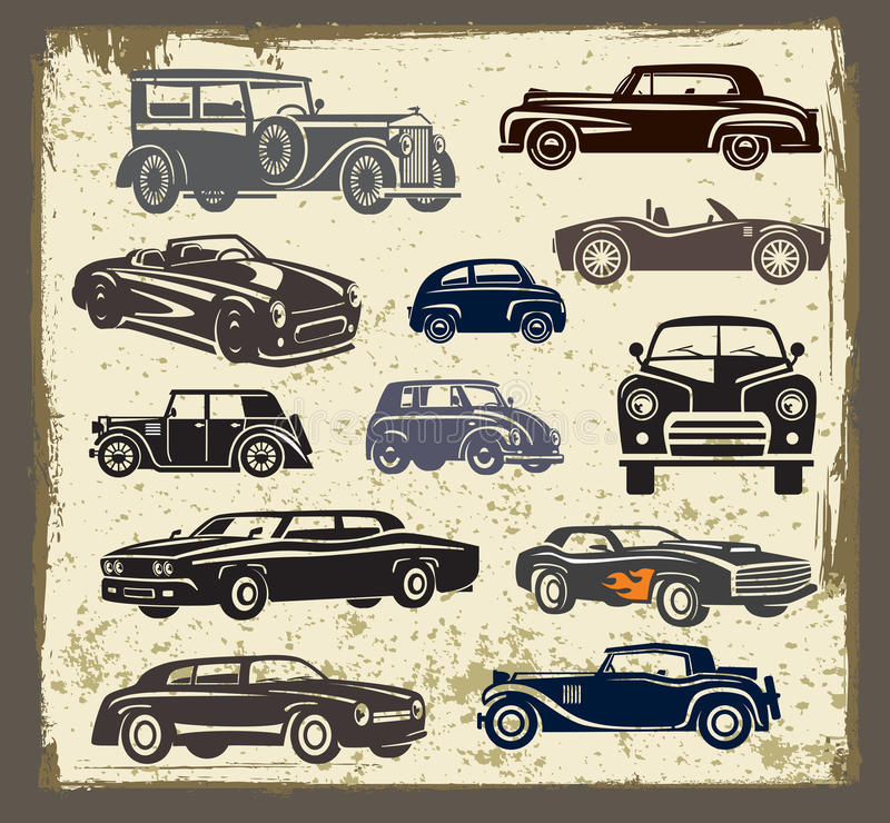 Vintage style retro cars vector illustration