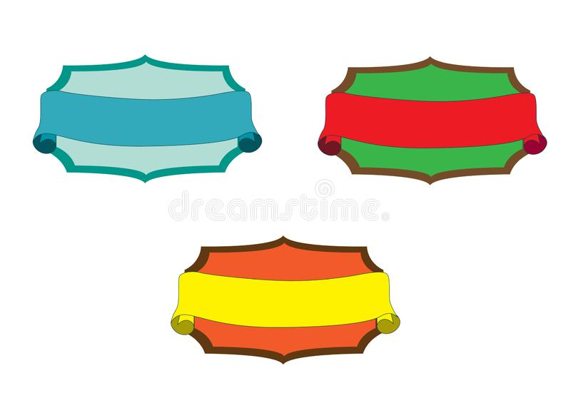 Vintage Style Ribbons and Banners vector. Is a general illustration royalty free illustration