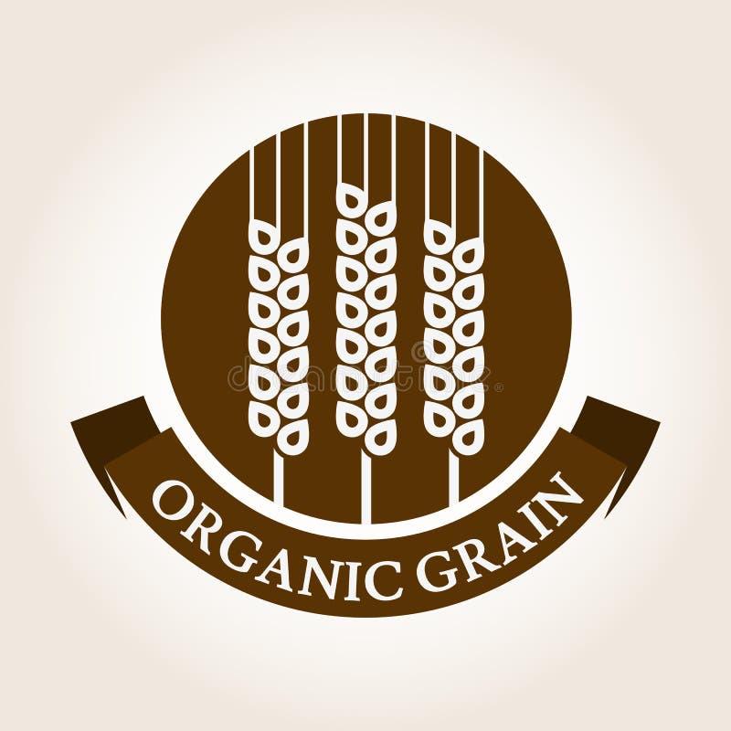 Vintage style wheat label. Vector logo design template. Organic royalty free illustration