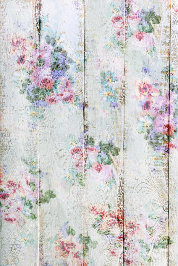 Vintage style wooden background with floral pattern. Beautiful vintage style wooden background with floral pattern stock photos