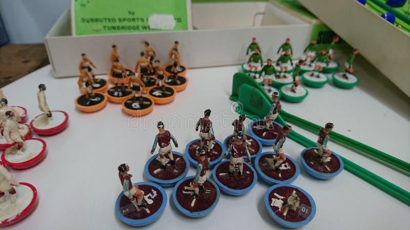 Vintage Subbuteo Table Football teams set royalty free stock photos