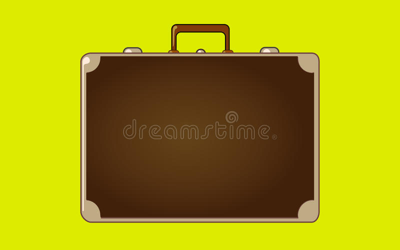 Vintage suitcase royalty free illustration