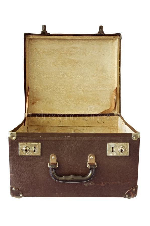 Vintage Suitcase (with Path) stock photo