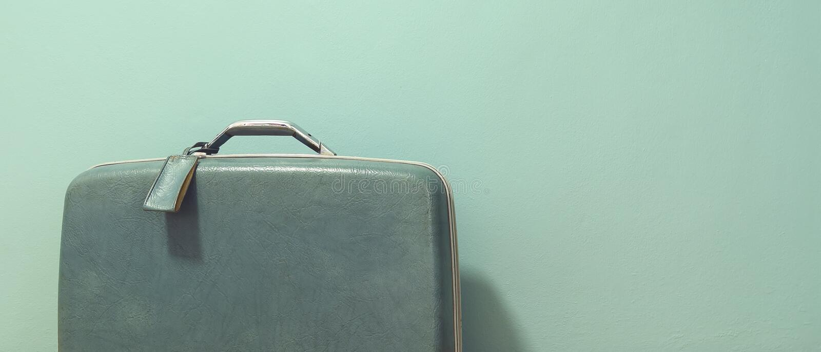 Vintage suitcase for travel stock photo