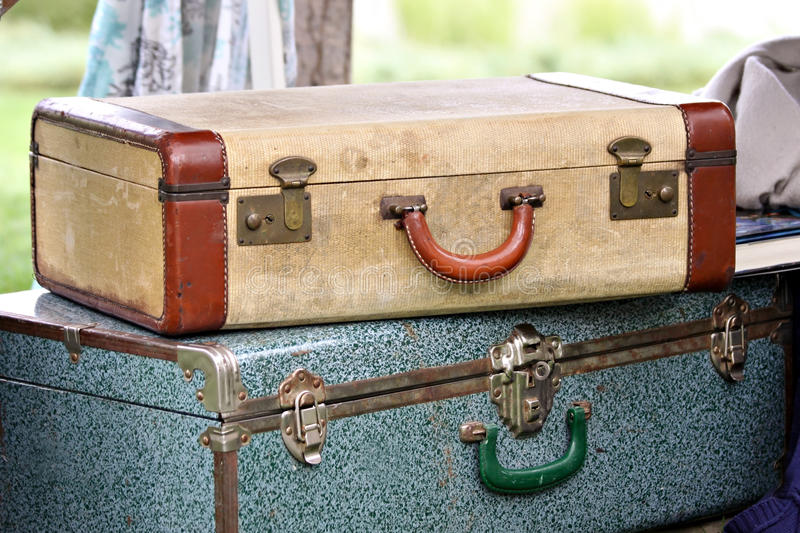 Vintage Suitcases royalty free stock photos