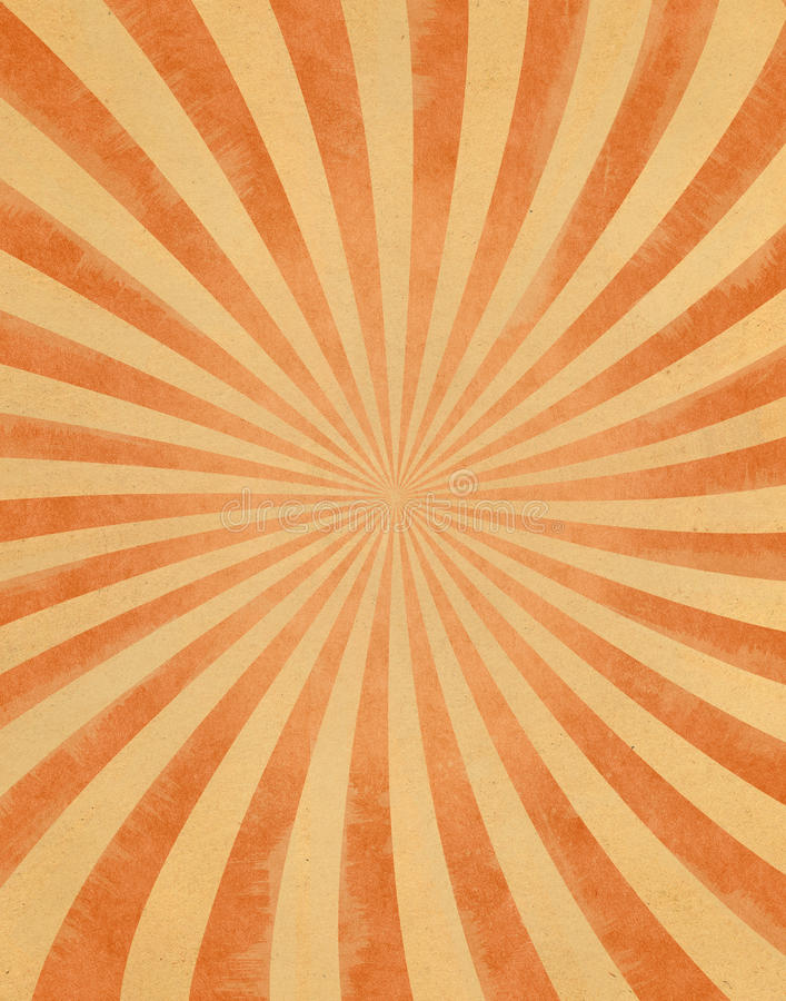 Vintage Sunbeams on Paper vector illustration