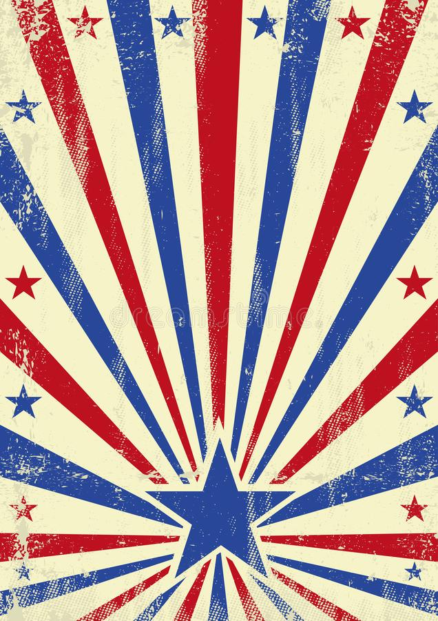 American blue star background stock photography