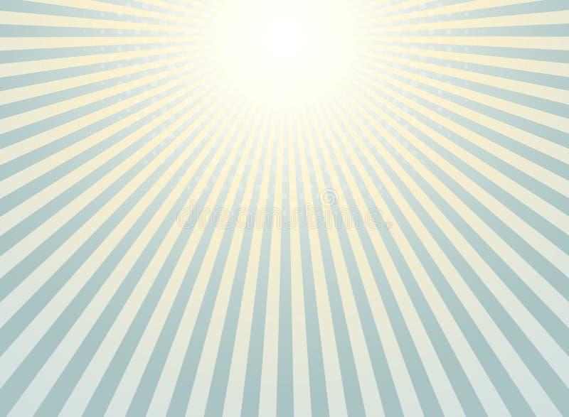 Vintage sunburst abstrato do fundo do projeto de intervalo mínimo do teste padrão ilustração stock