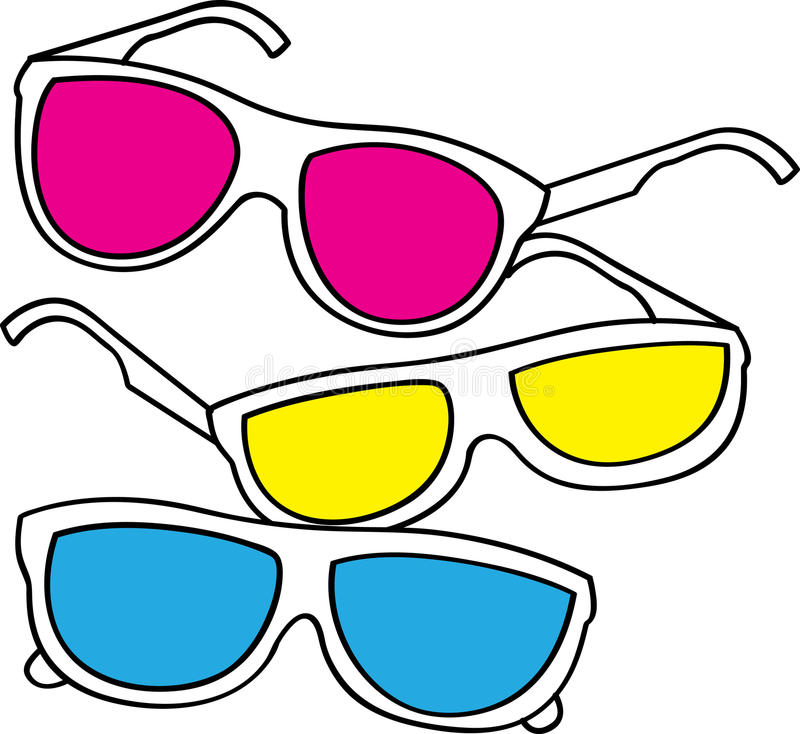 Vintage sunglasses stock vector. Illustration of artistic ...