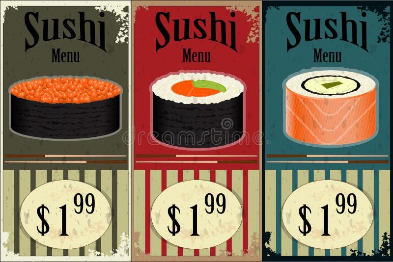 Vintage Sushi Labels Royalty Free Stock Image
