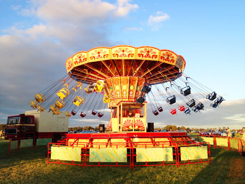 Vintage Swing ride Caroussel royalty free stock images