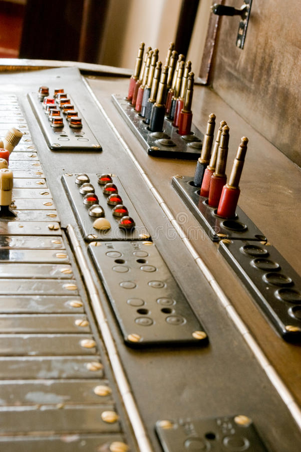Vintage switchboard stock photo
