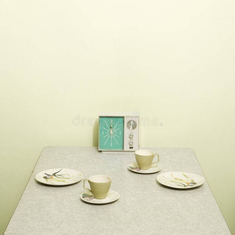 Download Vintage table setting. stock photo. Image of colour, retro - 2425488