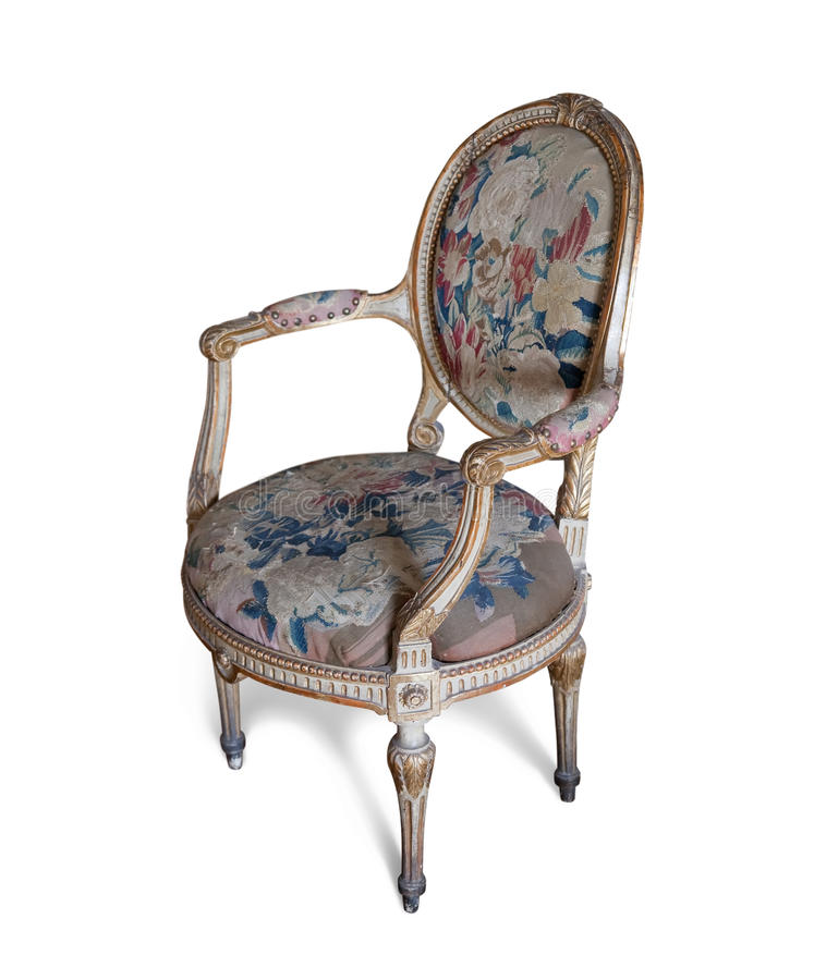 Download Vintage Tapestry Chair Stock Image. Image Of Cute, Style   10961665