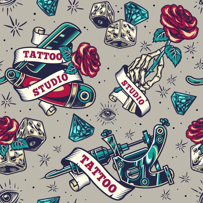 Vintage Tattoo Studio Logos Stock Vector