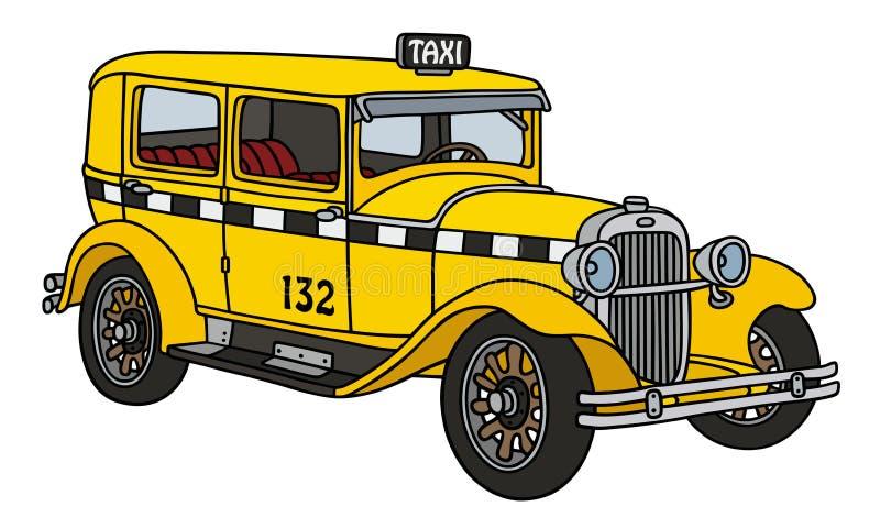 Cartoon Yellow Taxi Car stock vector. Illustration of ... |Yellow Taxi Cab Drawing