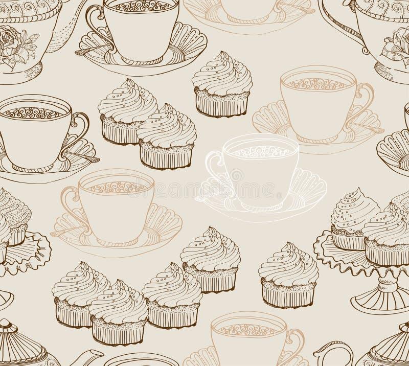 Download Vintage Tea Background. Seamless Pattern Stock Vector - Image: 27035437